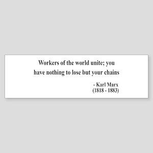 Karl Marx Text 8 Bumper Sticker
