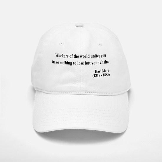 Karl Marx Text 8 Baseball Baseball Cap