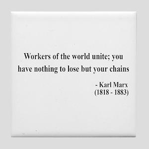 Karl Marx Text 8 Tile Coaster