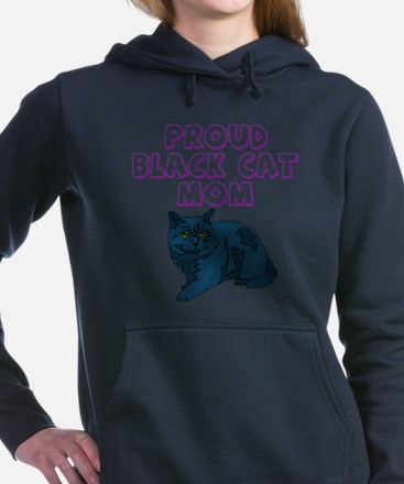 blkcatmom.png Women's Hooded Sweatshirt