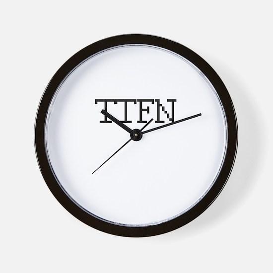 TTFN - Ta Ta for now Wall Clock