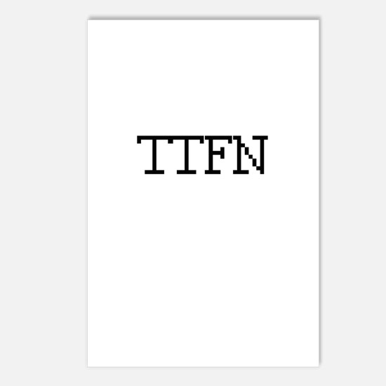 TTFN - Ta Ta for now Postcards (Package of 8)