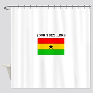 Custom Ghana Flag Shower Curtain