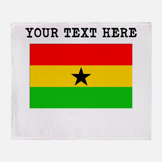 Custom Ghana Flag Throw Blanket