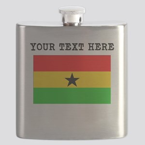 Custom Ghana Flag Flask