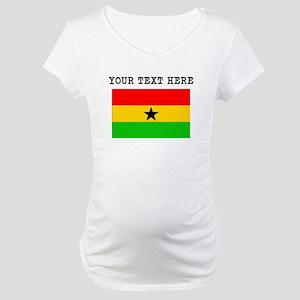 Custom Ghana Flag Maternity T-Shirt