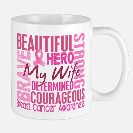 Tribute Square Breast Cancer Large Mugs