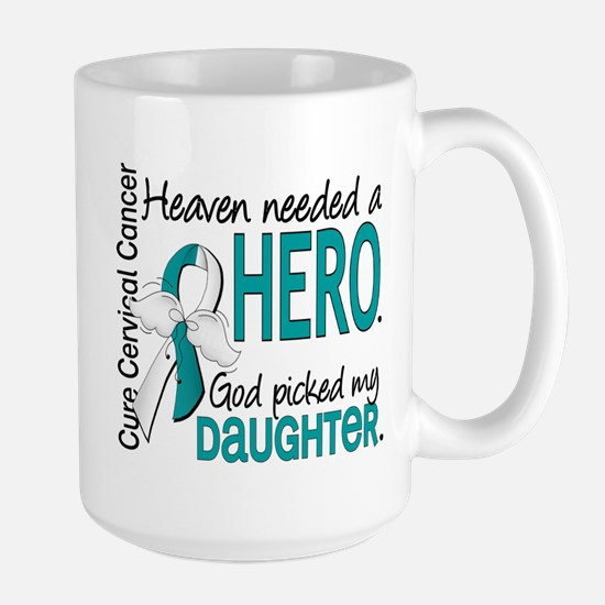 Cervical Cancer HeavenNeededHero1.1 Large Mug