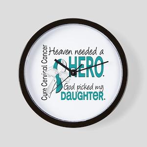 Cervical Cancer HeavenNeededHero1.1 Wall Clock