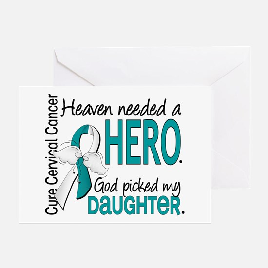 Cervical Cancer HeavenNeededHero1.1 Greeting Card
