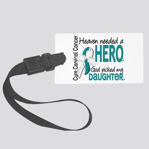 Cervical Cancer HeavenNeededHero Large Luggage Tag