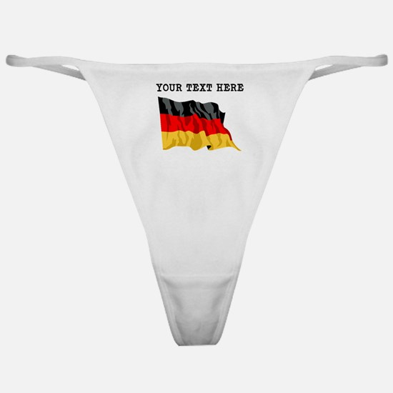 Custom Germany Flag Classic Thong