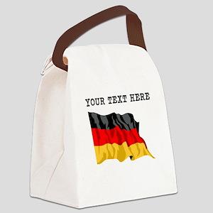 Custom Germany Flag Canvas Lunch Bag