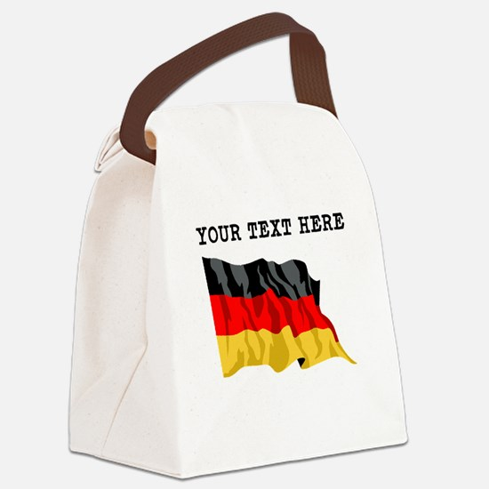 Custom Germany Flag Canvas Lunch Bag
