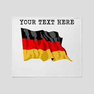 Custom Germany Flag Throw Blanket