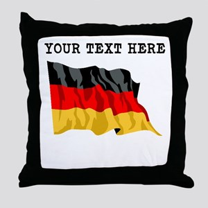 Custom Germany Flag Throw Pillow