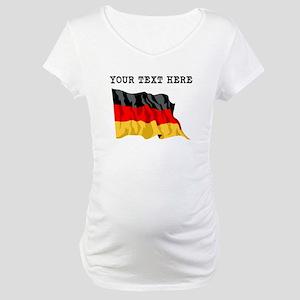 Custom Germany Flag Maternity T-Shirt
