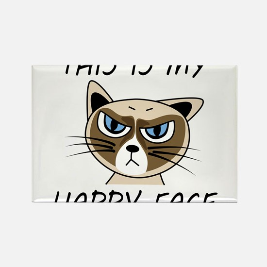 Cute Cat face Rectangle Magnet (10 pack)