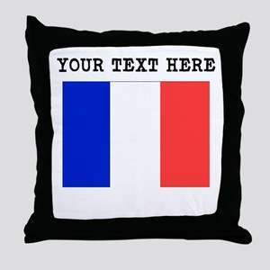 Custom France Flag Throw Pillow