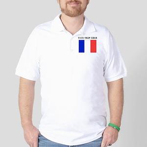 Custom France Flag Golf Shirt
