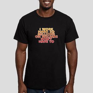 Millions on welfare - Men's Fitted T-Shirt (dark)