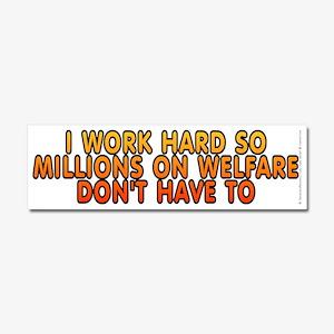 Millions on welfare - Car Magnet 10 x 3