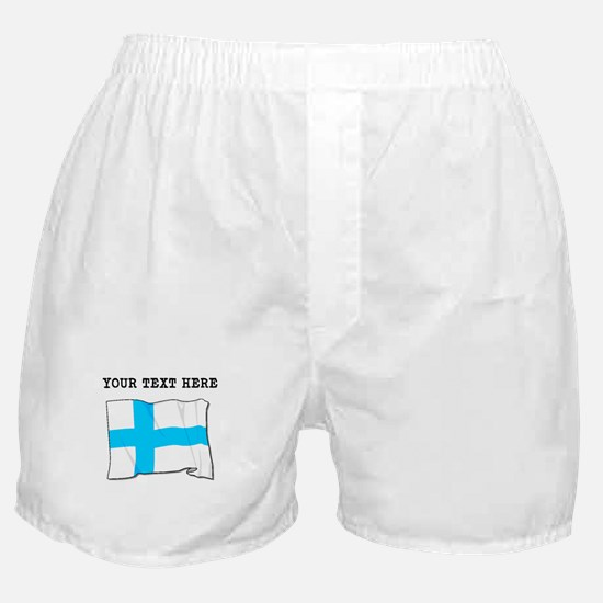 Custom Finland Flag Boxer Shorts