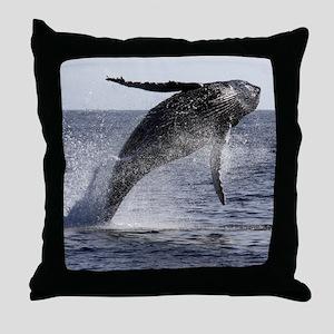 Humpback Breaches Throw Pillow