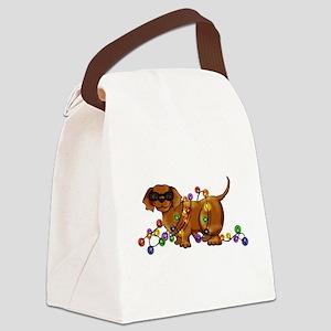 Shiny Dog Canvas Lunch Bag