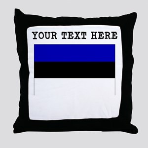 Custom Estonia Flag Throw Pillow