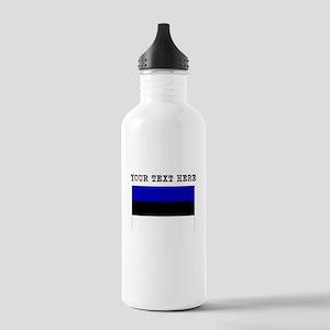 Custom Estonia Flag Water Bottle