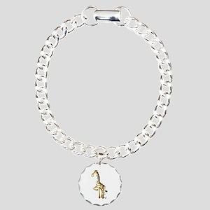 Shiny Giraffe Charm Bracelet, One Charm
