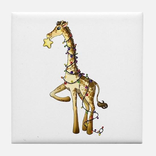 Shiny Giraffe Tile Coaster