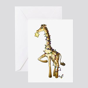 Shiny Giraffe Greeting Cards