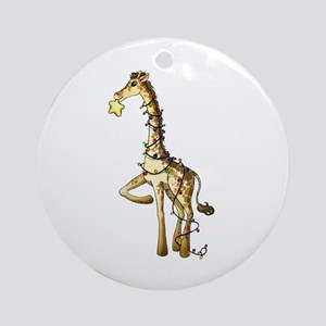 Shiny Giraffe Ornament (Round)
