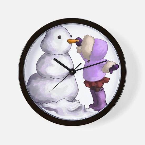 Snow Friend Wall Clock