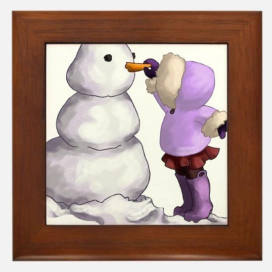 Snow Friend Framed Tile