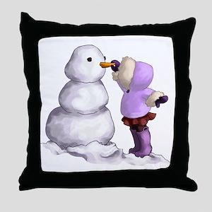 Snow Friend Throw Pillow