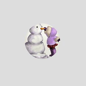 Snow Friend Mini Button