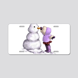 Snow Friend Aluminum License Plate