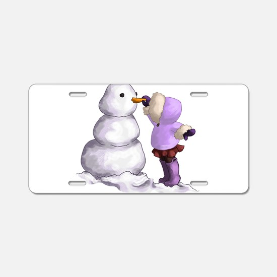 Snow Friend Aluminum License Plate