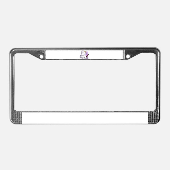 Snow Friend License Plate Frame