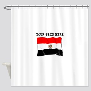 Custom Egypt Flag Shower Curtain