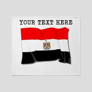 Custom Egypt Flag Throw Blanket