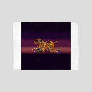 Shiny Dog 5'x7'Area Rug