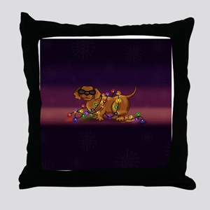 Shiny Dog Throw Pillow