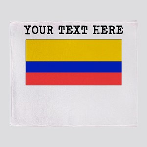 Custom Ecuador Flag Throw Blanket