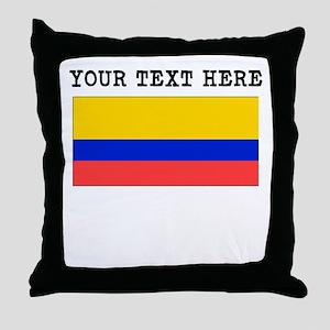 Custom Ecuador Flag Throw Pillow
