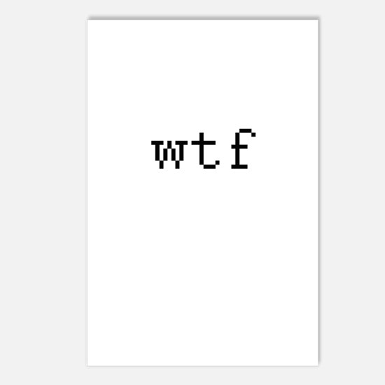 WTF - What the fuck Postcards (Package of 8)