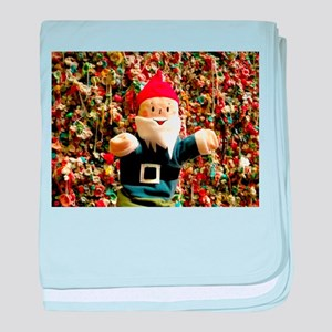 Gum Wall Gnome I baby blanket